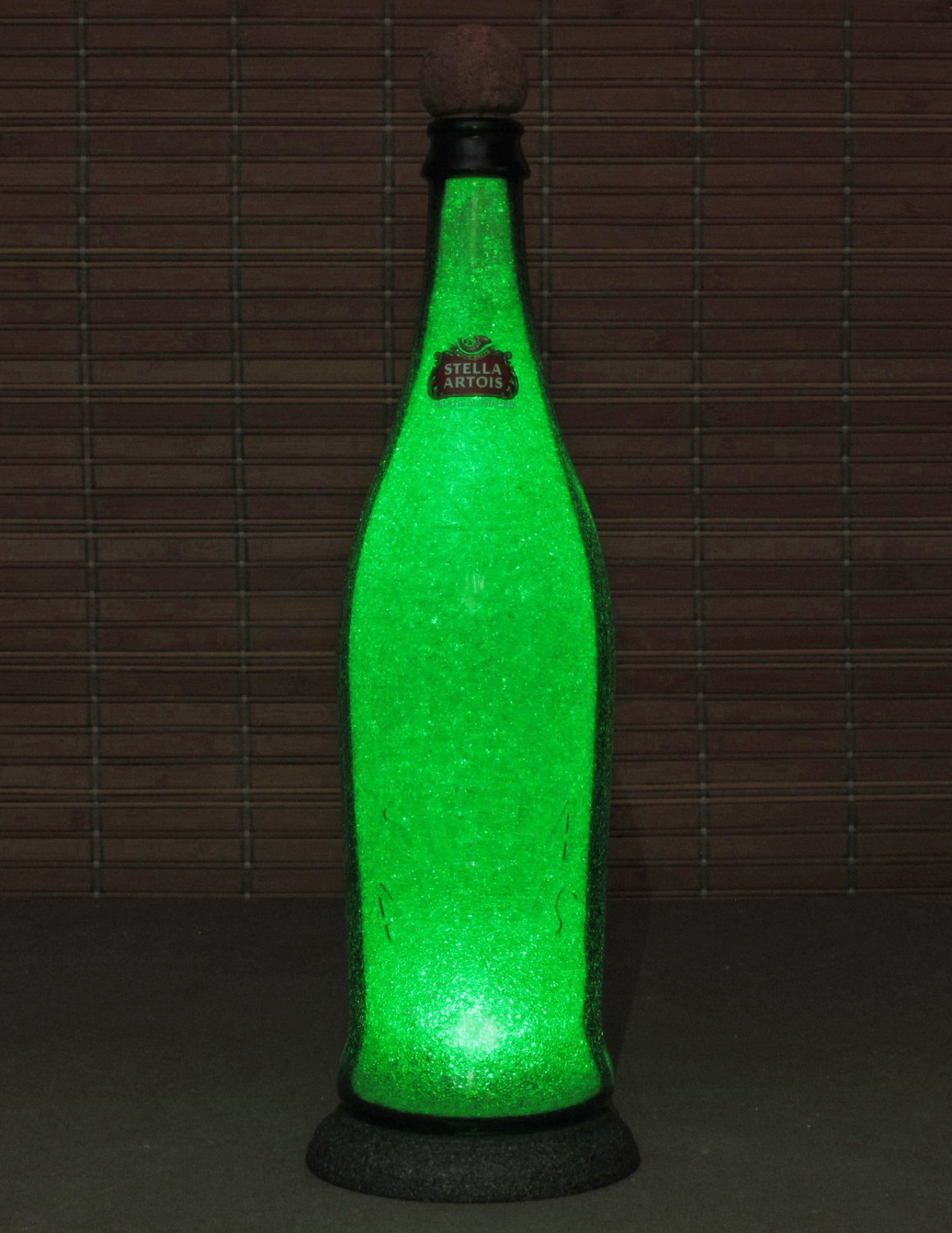 Stella Artois Holiday Bottle 750 ml Beer Lamp Light Bar Man Cave Sign St Patricks Day