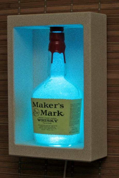 Makers Mark Whiskey Sconce Wall Mount Color changing LED lamp Bar light Man Cave
