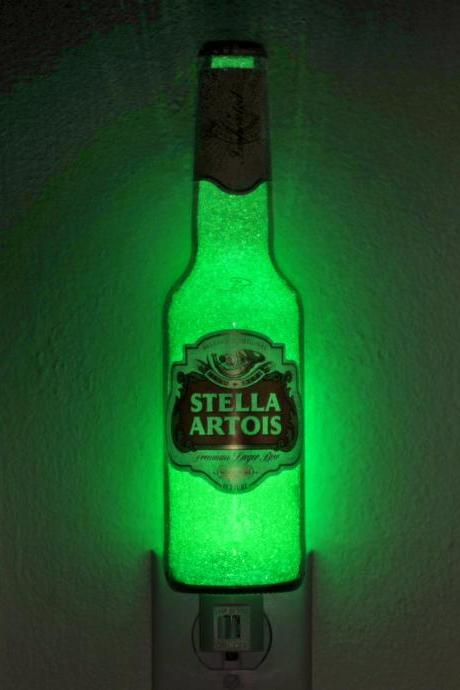 Stella Artois Night Light Accent Lamp Eco friendly LED Bar light man cave lighting beer bottle lamp 12 oz bottle light accent light