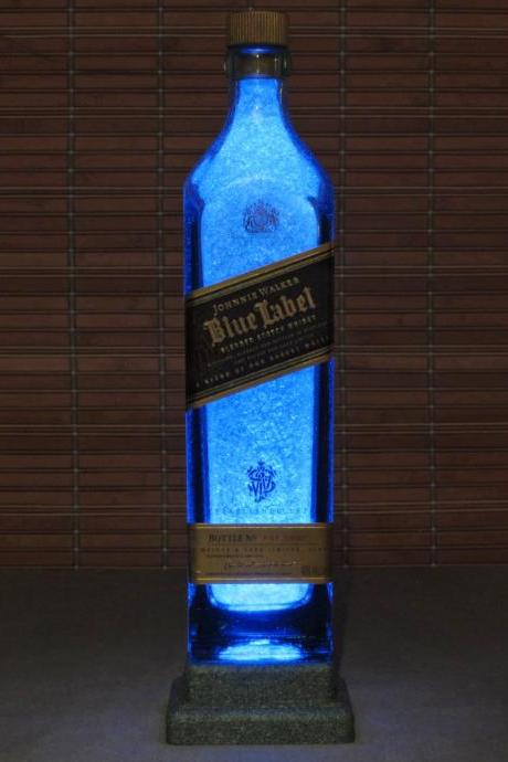 Johnnie Walker Blue Label Bottle Lamp Bar Light LED night light bar man cave accent lamp