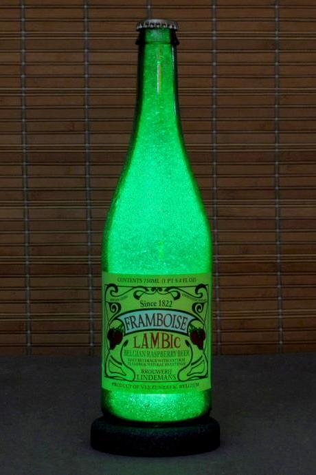 Lindemans Lambic Belgian Beer Framboise Raspberry Beer Bottle Lamp Bar Light Man cave 750ml