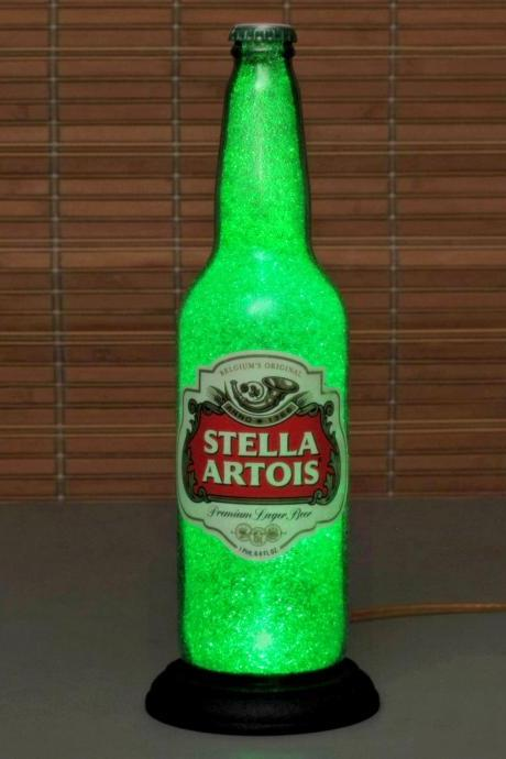Stella Artois Belgium Lager Big 24oz Beer Bottle Lamp Bar Light man cave