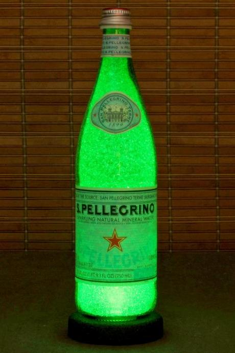 San Pellegrino 750ml Bottle Lamp Bar Night Light Restaurant Decor Kitchen Decor
