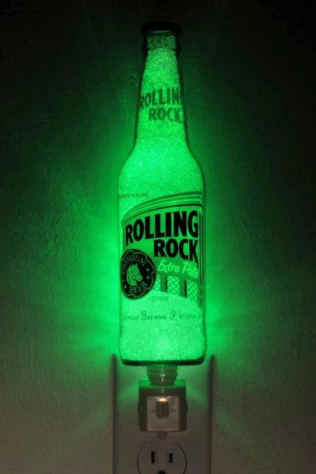 Rolling Rock Beer 12oz Night Light Accent Lamp 50,000 hour ECO LED