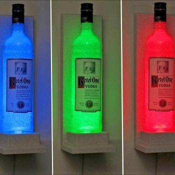 Ketel One Vodka Wall Mount Color Changing Remote LED Bottle Lamp Bar Light