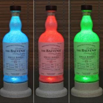 The Balvenie 15 yr Single Malt Scotch Whiskey Color Change LED Bottle Lamp Light Remote