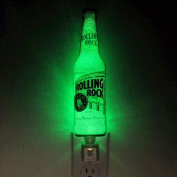 Rolling Rock Beer 12oz Night Light Accent Lamp- VIDEO DEMO- Eco LED...
