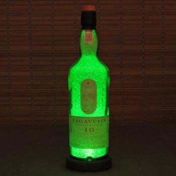 Lagavulin 16 year Islay Single Malt Scotch Whiskey LED Green Bottle Lamp Light