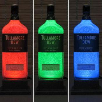 Tullamore Dew Irish Whiskey Color Changing LED Remote Control LED Bottle Lamp Bar Light Sign