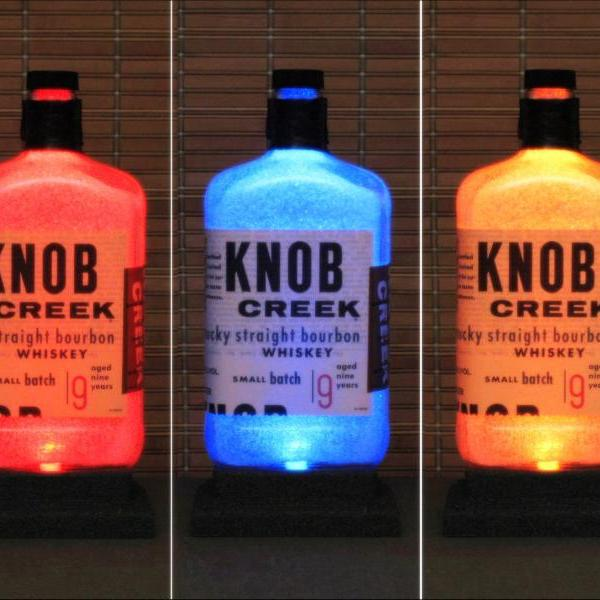 Knob Creek Kentucky Whiskey Color Changing LED Remote Control LED Bottle Lamp Bar Light Man Cave Pub Sign