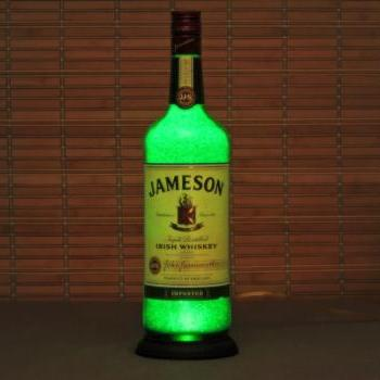 Jameson Irish Whiskey Bottle Lamp Bar Light 11 year LED - Intense Sparkle & Glow St Patricks Day